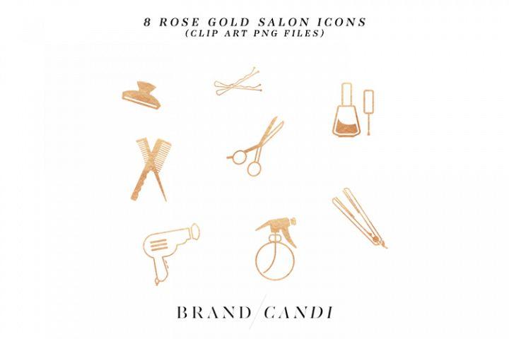 Rose Gold Salon Icons