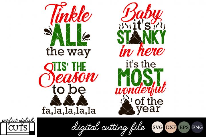 Christmas Toilet Paper SVG Bundle - Christmas SVG Files