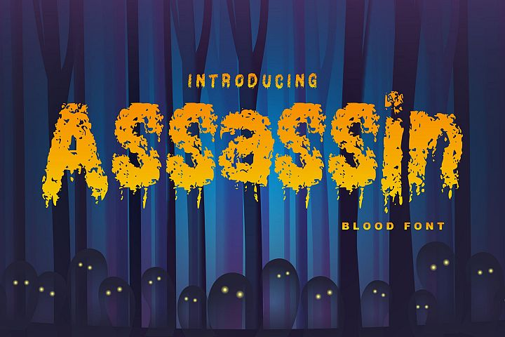 Assassin | Decorative Blood Font