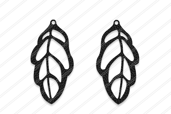 Leaf Earrings svg, Jewelry svg, leather jewelry, Cricut