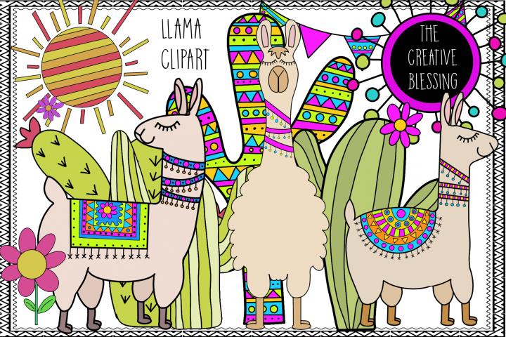 Hand Drawn Llama Clipart