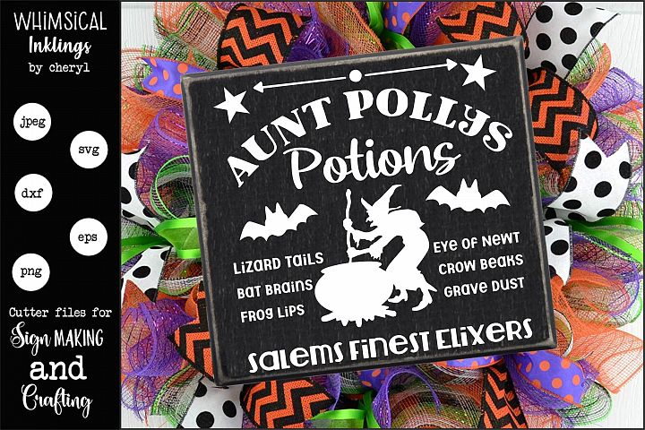 Aunt Pollys Potions-Halloween SVG
