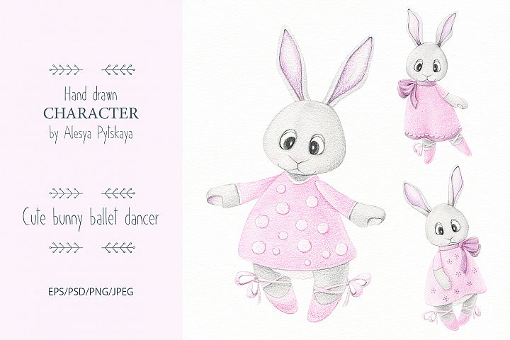 Cute bunny ballet dancer