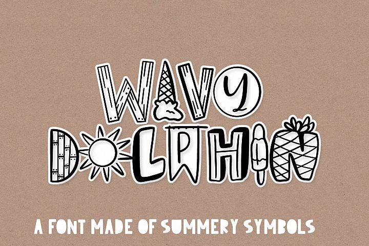Wavy Dolphin - A Summer Word-Art Font