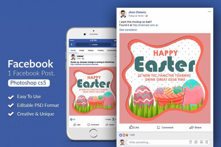 Easter Facebook Post Baner