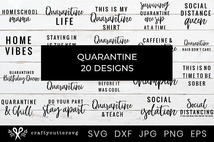 Quarantine SVG Bundle, Social Distancing Shirt Bundle,