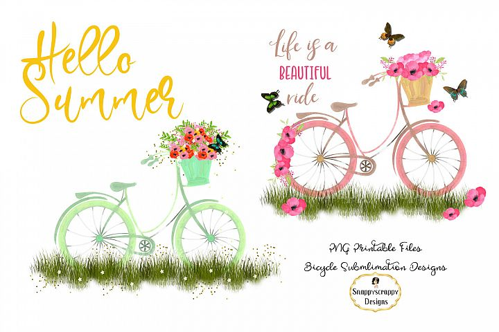 Summer Bicycle Sublimations