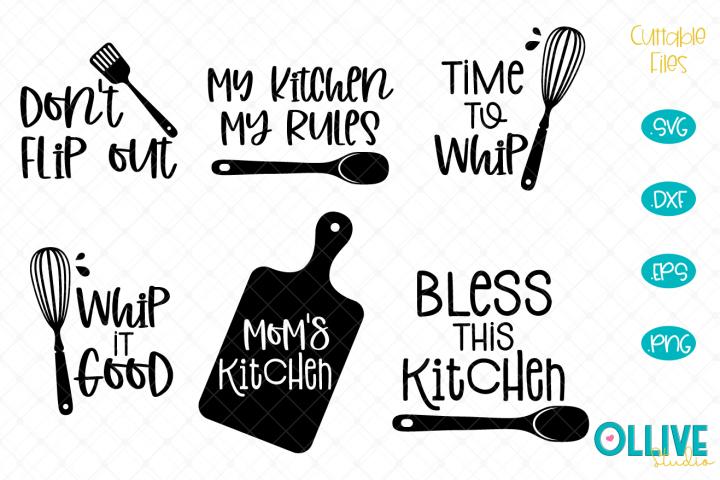 Kitchen Quotes SVG Bundle