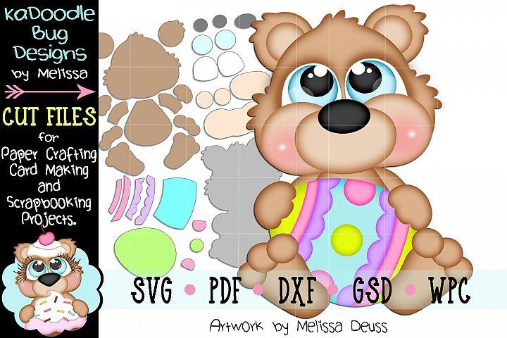 Easter Egg Bear Cut File - SVG PDF DXF GSD WPC