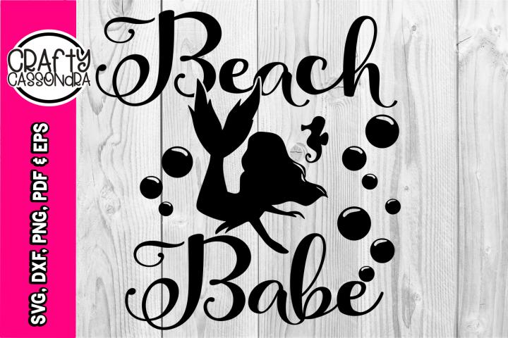 Mermaid svg - mermaid silhouette - beach babe - seahorse svg
