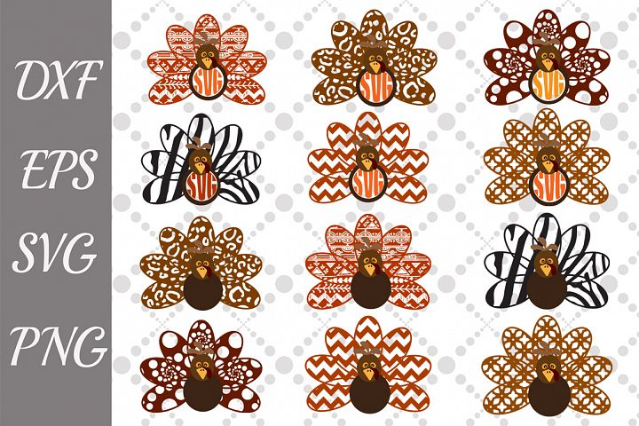 Thanksgiving Turkey Svg, TURKEY CLIPART, Bundle Turkey Svg