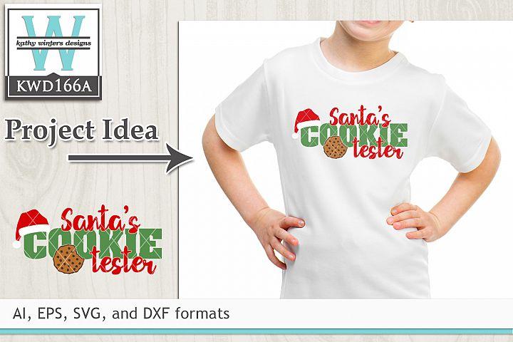 Christmas SVG - Santas Cookie Tester
