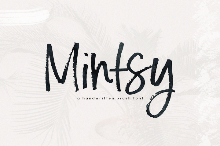 Mintsy - A Handwritten Brush Font