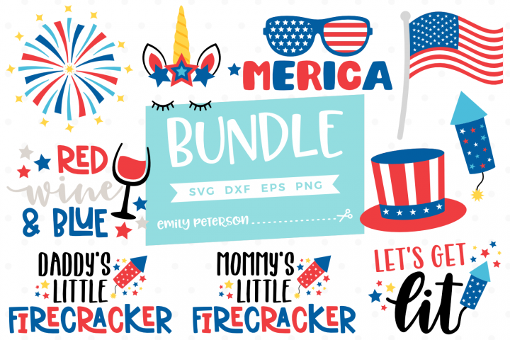 4th of July Bundle 10 Designs SVG DXF EPS PNG