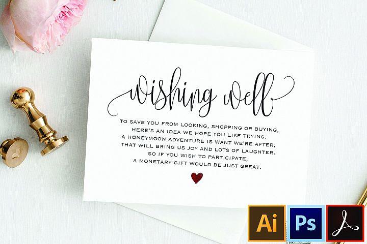 Wishing Well Card, Wedding Wishing Well, Wishing Well