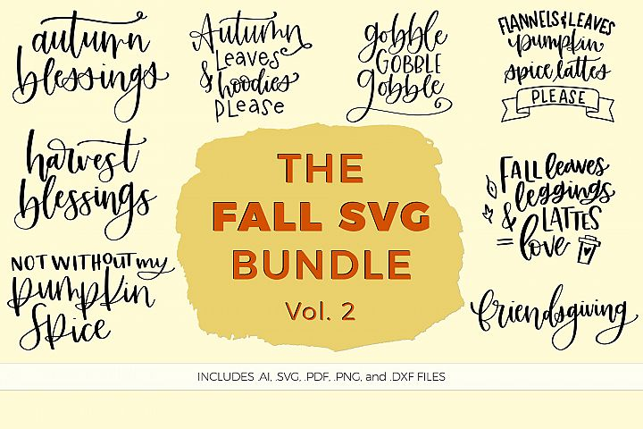 The Fall SVG Bundle, Volume 2