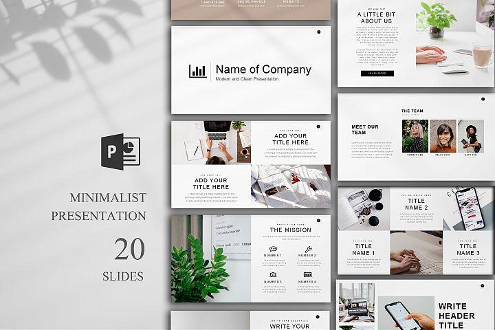 Minimal Presentation, 20 Slides, PowerPoint