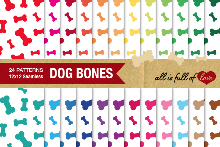 Bones Digital Paper Doggy Bone Background Patterns printable