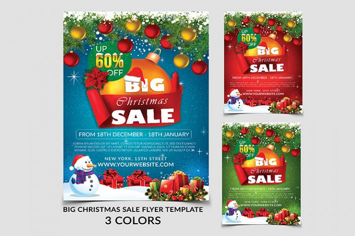 Big Sale Christmas Flyer Template