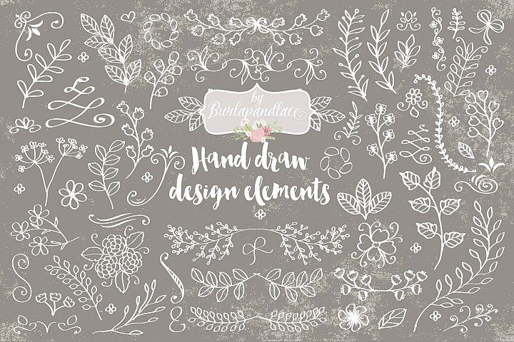 Hand draw design elements