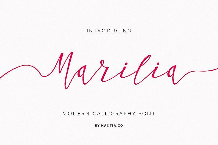 Script Font Calligraphy Marilia-Pro