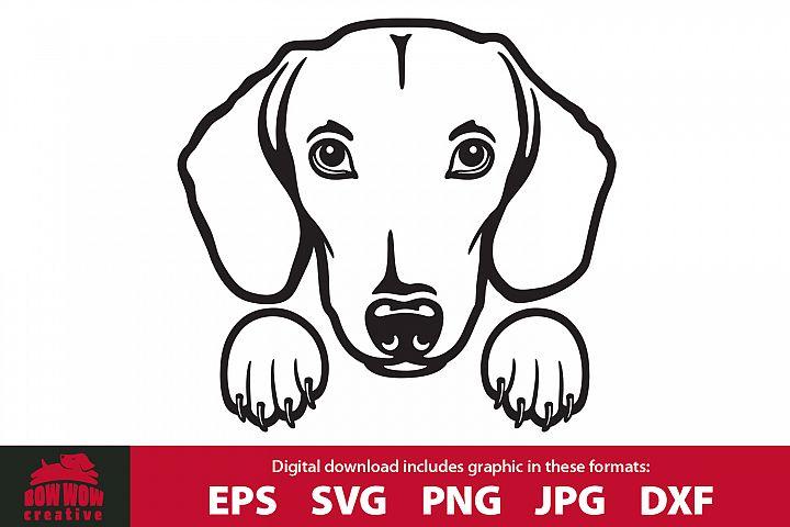 Peeking Dachshund Pocket Dog - SVG, EPS, JPG, PNG & DXF file
