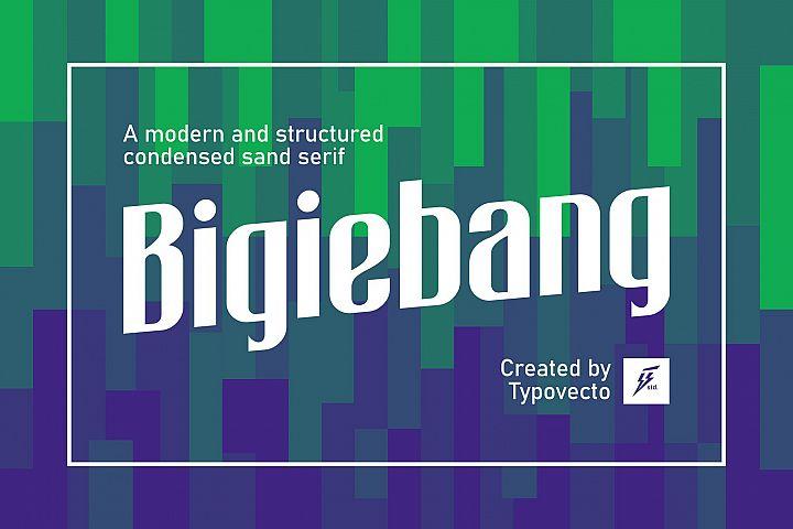 Bigiebang Condensed Font