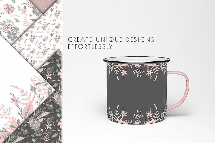 floral digital paper, wedding flowers background, planner