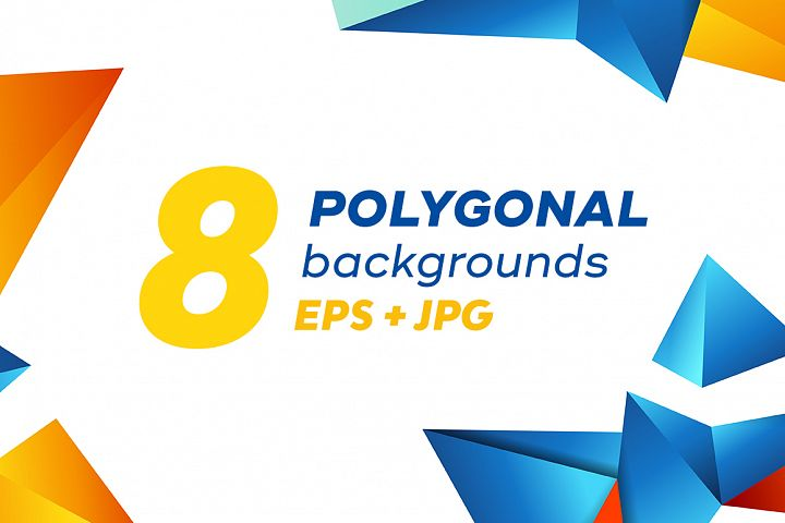 Set of Colorful Polygonal Backgrounds