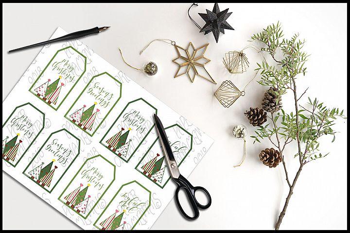 Christmas Gift Tags, Christmas Trees With Holiday Sayings