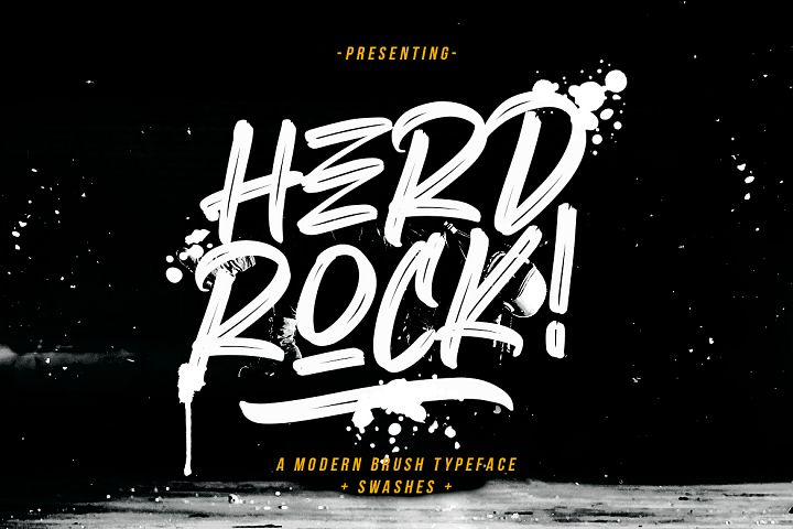 Herdrock Brush Typeface