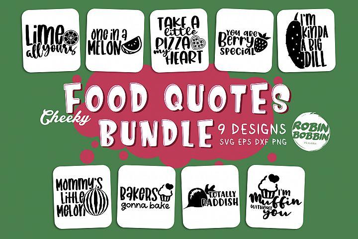 Funny Food Puns SVG - Food Bundle SVG - Food SVG