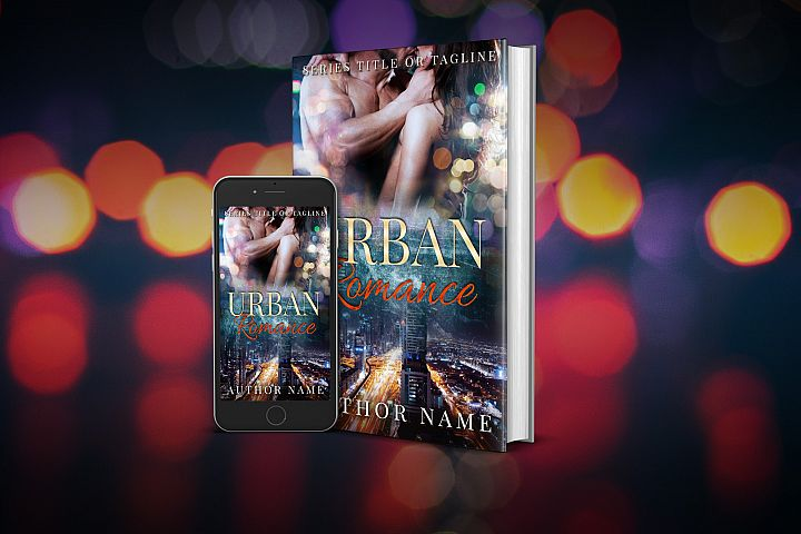 Eye-catching book cover for Romance book with sexy couple