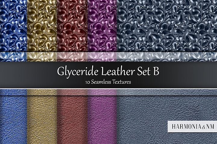 Glyceride Leather Set B 10 Seamless Textures