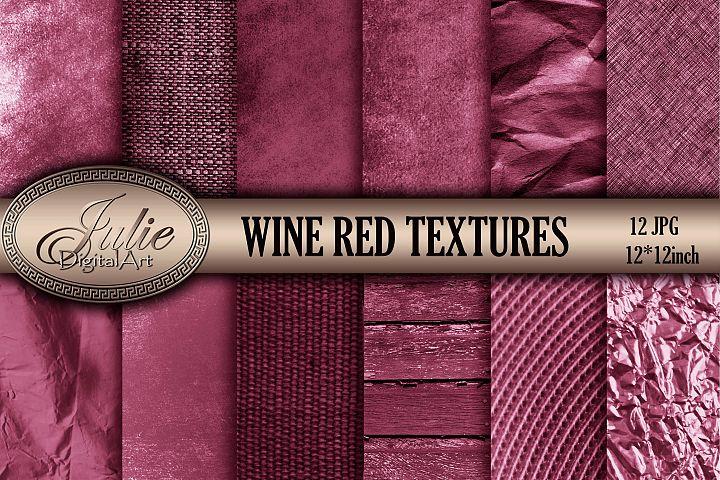 Wine red vintage old textures digital papers 8. 5 x 11