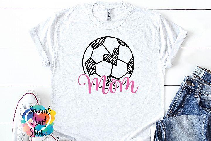 Soccer Mom SVG - A hand drawn Scribble Soccer Ball SVG