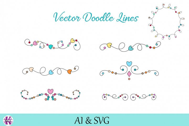 Vector Doodle lines/Borders/Dividers