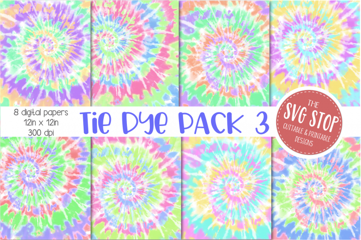 Tie Dye Digital Paper Backgrounds