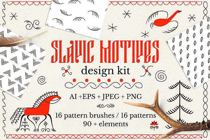 Slavic motives. Design kit.