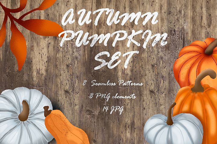 Autumn pumpkin set