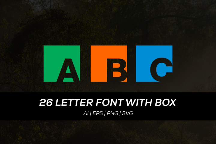 36 letter font with box