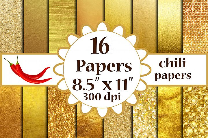 Gold Foil Paper, Metallic Gold background, A4 papers 8.5x11