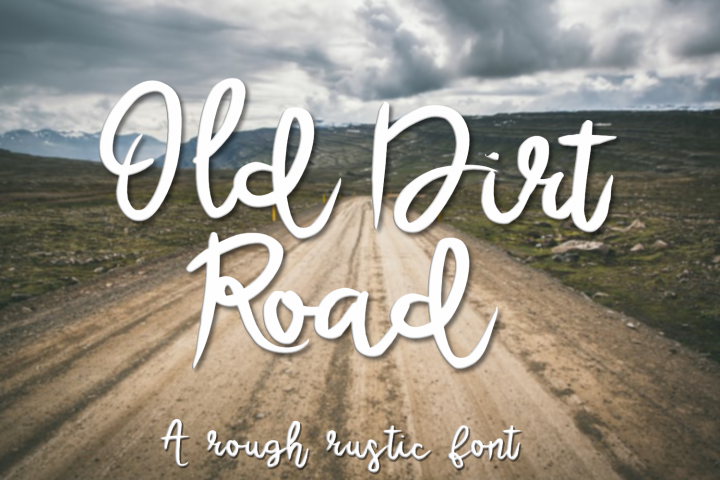 Old Dirt Road - A Rough Rustic Script Font