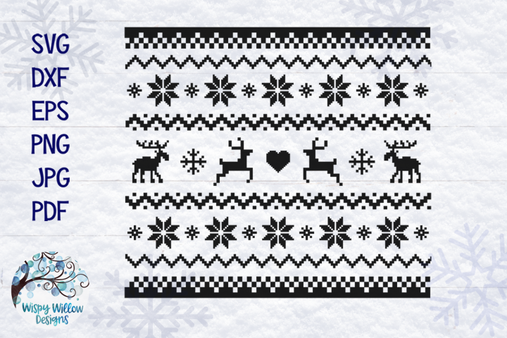 Christmas Sweater SVG | Ugly Christmas Sweater Pattern SVG