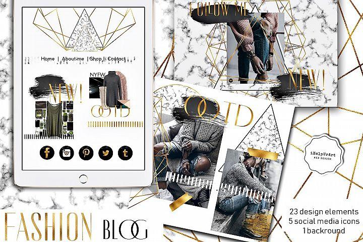 Fashion Blog Design Elements Pack