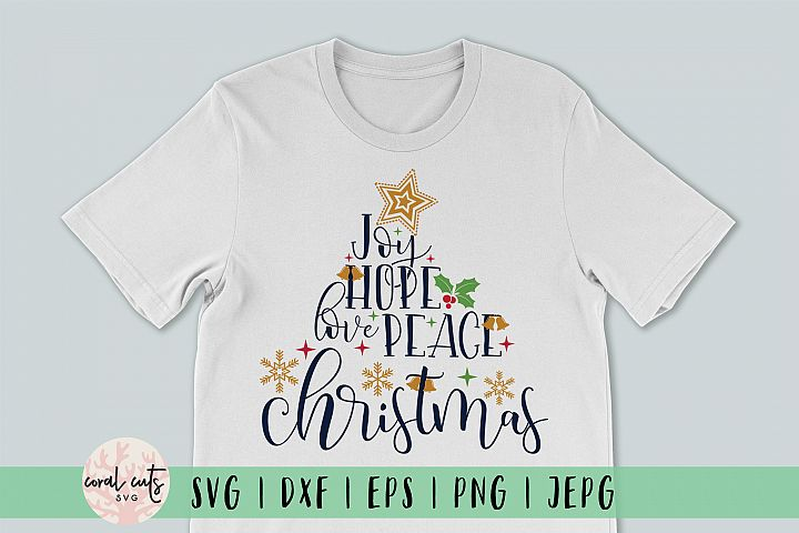 Joy Hope Love Peace Christmas Svg Cutting Files