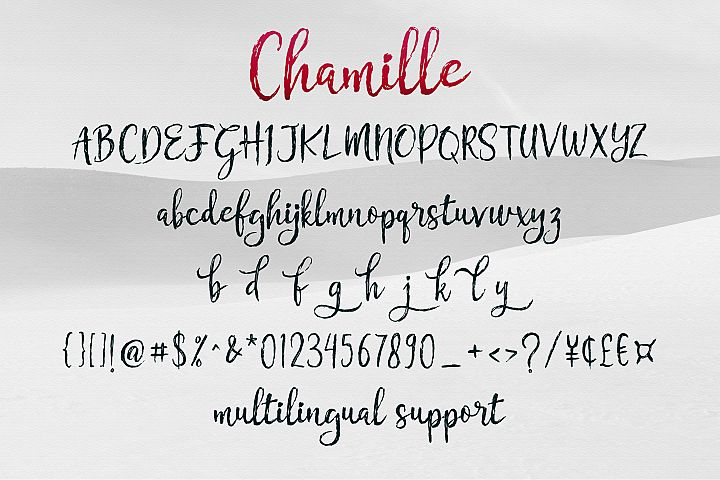Chamille | sweet script example 8