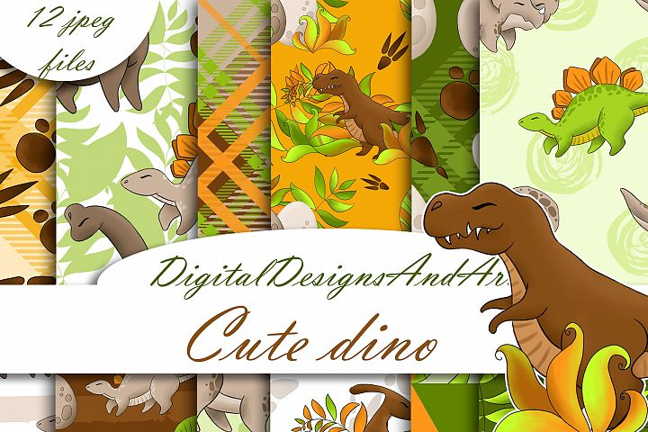 Dinosaur digital paper
