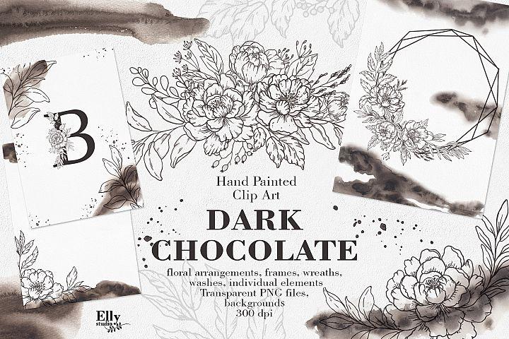 Dark Chocolate Graphic Set
