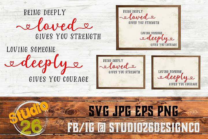 Valentine - Loved Deeply - SVG EPS PNG